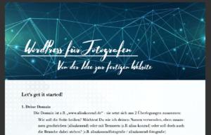 Vorbereitung WordPress